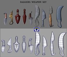 Weapons Pack 2 - Daggers by BlueSerenity