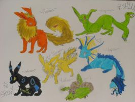 EEvEELUTION Tailmouth Adopts! by FalteredHeart