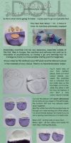 How I hand-stitch Paw Pads by dot-DOLL