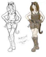 Concept Design - Catgirl Engineer by foretelling