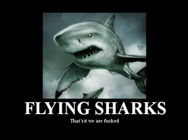 Flying sharks by junkwarrior1711