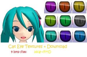 MMD cat eye texture + DL by Chibi-Baka-San