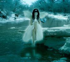 Lonely Winter Angel by flina