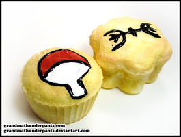 Senju and Uchiha Cakes by GrandmaThunderpants