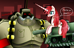 CROSSOVER: Panzerfaust and Lauren Faust Pony by PinkRose2001