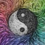 Yin Yang Abstract Color by SteveAllred