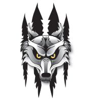 wolf logo by ian-somers