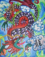 Abstract Chinese Dragon by Rinkuchan27