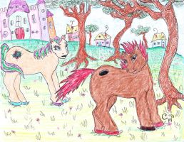 A couple'a ponies. by Ekk-the-5ifth