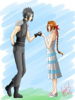 Prize: Zack And Aerith by xSilverDragoonx