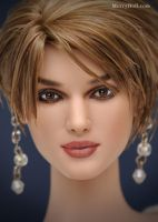 Keira Knightley doll repaint by mary-vassilieva