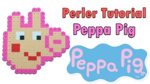 Peppa pig perler (Check Video Tutorial!) by CraftDragons