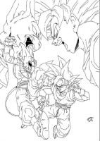 Dragonball Z  Battle of Gods Goku VS Bills Lineart by TriiGuN