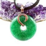 Copper and Green Aventurine Donut Necklace by sylva