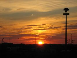 Sunset in my town... by Wolinpiotr