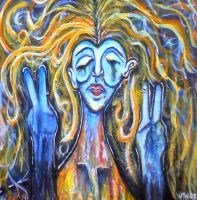 Past - Acrylic Painting - Hippie by lyssagal