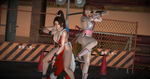 Pose - Kasumi and Mai in 'Flame and Blossom' by Lhacrimosa
