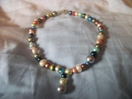 Multicolored Pearl Necklace by skiingmusician