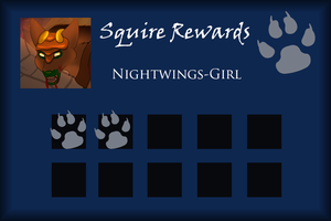 Nightwings-Girl Squire Rewards Card by SapphireSquire