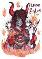 zalgo human form by NENEBUBBLEELOVER
