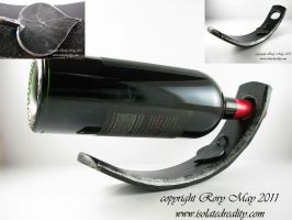 wine bottle holder by isolatedreality