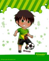 Football player Brazil by FlopyLopez
