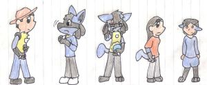 Lucario  Group Tf by VulpineKeyblader