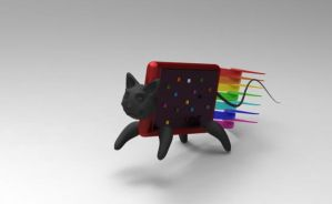 3d Nyan-cat - speedy by saxeh