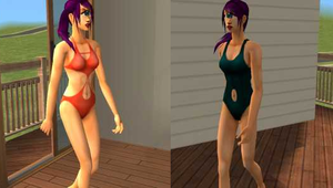 Sims 2- Leela Bathing Suits by Officer-1BDI