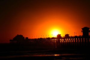 Oceanside pier at dusk by ShannonCPhotography