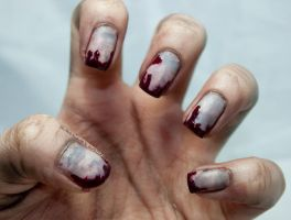 Zombie Nail Art by SamariumsSwatches