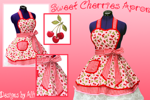 Sweet Cherries Apron by always-one