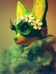 OOAK Water Lily Vixen by TotemEye