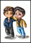 Commission - Harry Styles and Louis Tomlinson by FuriarossaAndMimma