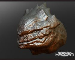 Detailed Krogan exhibit B by thedarkcloak