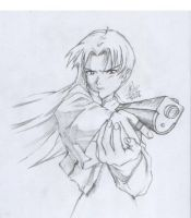 Misato Katsuragi with gun by killphil