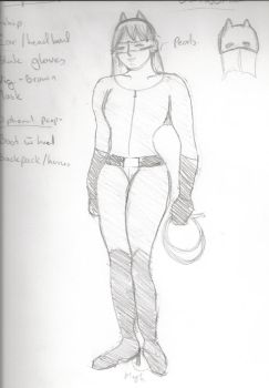 Costume Sketch - Catwoman by Twiganut
