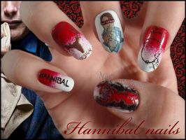 Hannibal Nails by JawsOfKita-LoveHim