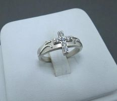 Cast Silver Cross Ring by GipsonDiamondJeweler