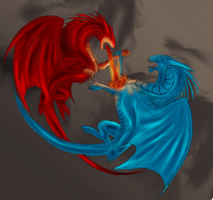Thorn vs Saphira by celticessence