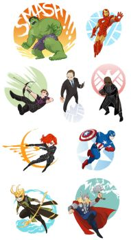 Avengers assemble by beanclam