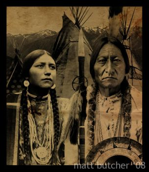 Native American Gothic by narflebuttocks