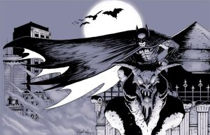 Batman and the Gargoyle by WKenney