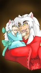 Kiyasha and Inuyasha by shaygoyle