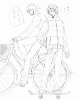 Bicycle VS Sk8boad by WAGA85