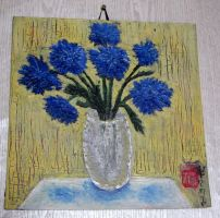 BLUE PLANTS decorative paintings by ShadeOvWarlock
