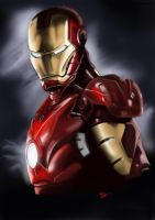 Iron Man Painting by Martin-Saelens