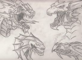 Dragons -Sketch- by VenomEXsoldier