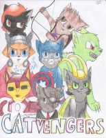 Nick Furry and the Catvengers by Potato-Kitten