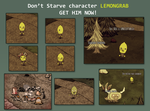 LEMONGRAB Don't Starve character by Foxygene